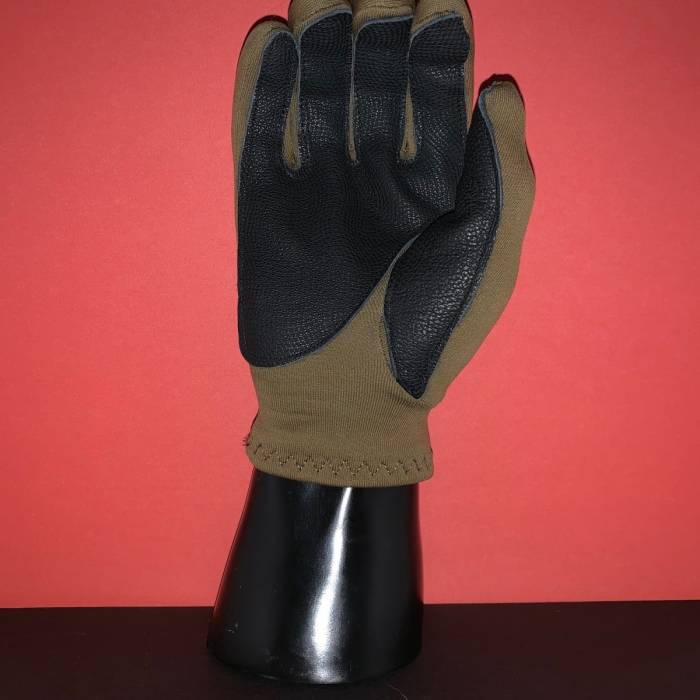 ROG FLEECE GLOVE WITH GOAT SKIN LEATHER PALM - TXT